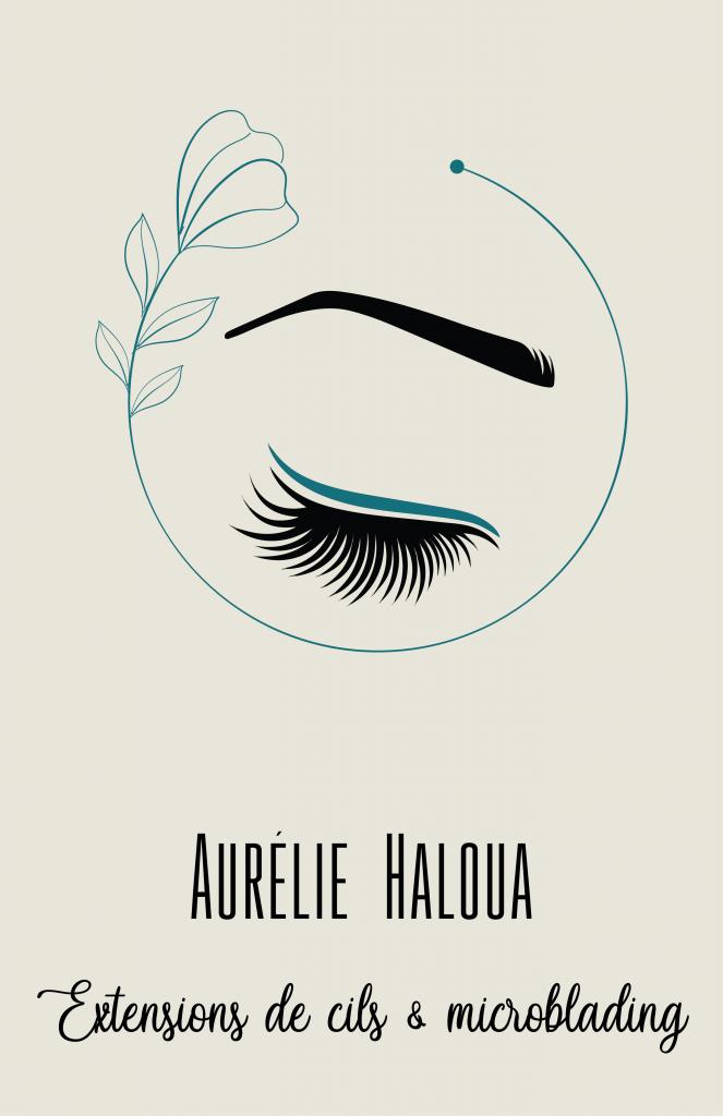 Aurélie Haloua extension de cil et microblading montpellier centre écusson