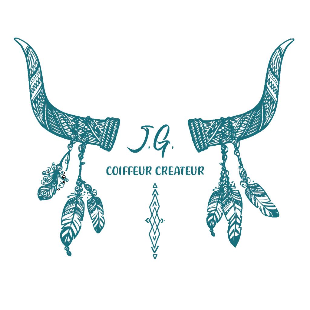 Logo JG coiffeur créateur montpellier écusson